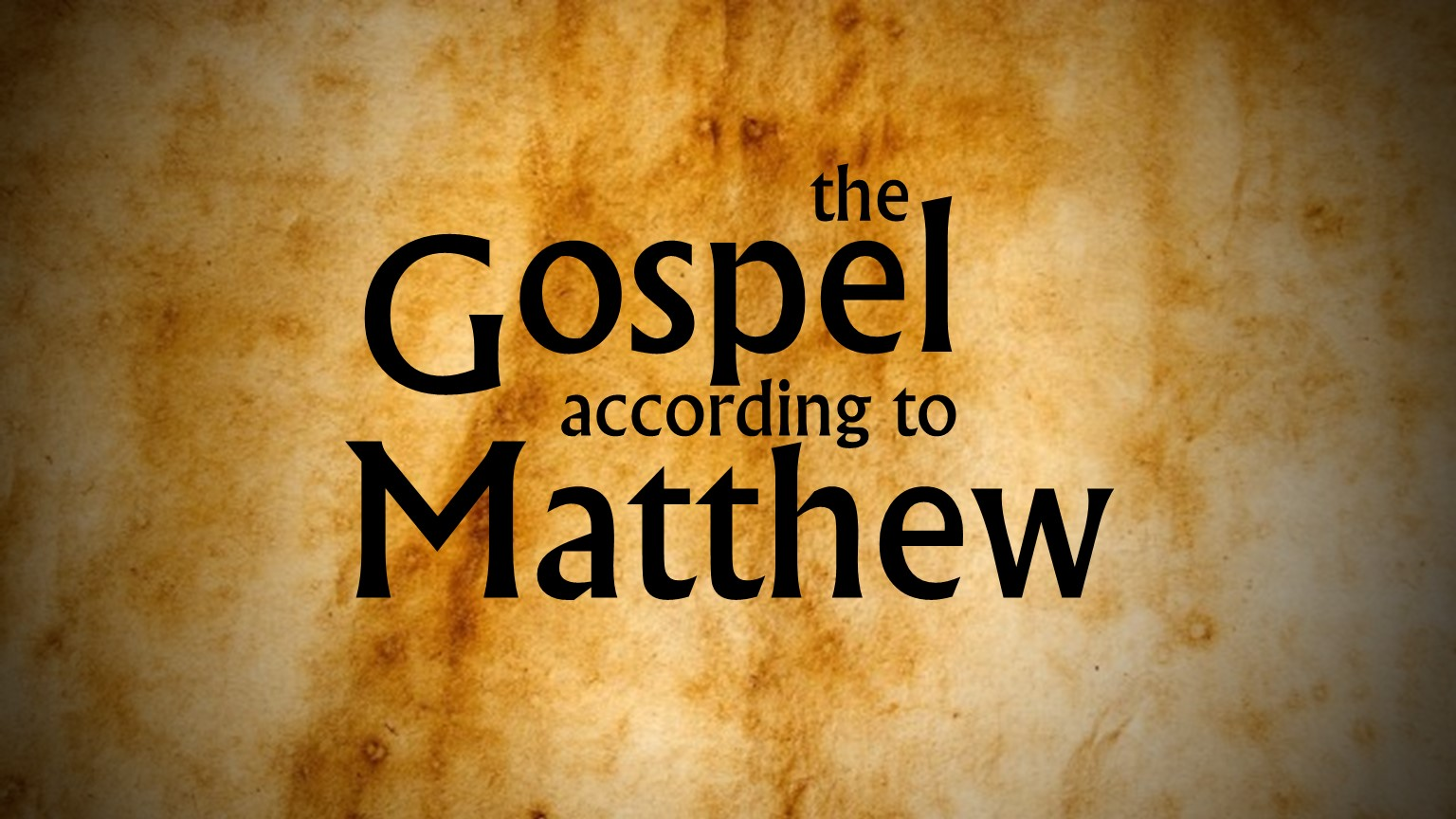 gospel according to matthew Summary although the gospel of matthew was not the first gospel written, it is generally regarded as the most important and was placed first in the collection o.